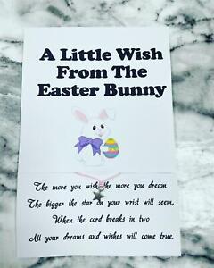 Easter Bunny Wish Bracelet Easter Egg Hunt Easter Gift Prize Party Bag
