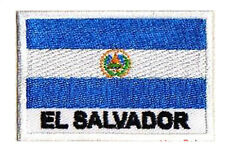 Patch écusson patche drapeau EL SALVADOR 70 x 45 mm brodé à coudre