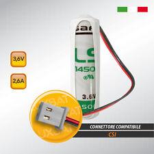 C.S.I. MBT3.6/2 LS14500 3,6V 2,6Ah, Batteria al litio SAFT