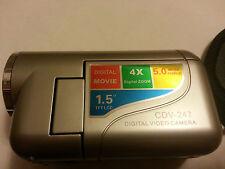 NEW Catronics CDV247S Digital Video Camera w/ 128mb SD-card SILVER, USA SELLER