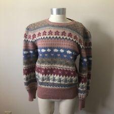 Vintage Moussie Susan Bristol Wool Angora Sweater Size 34 Small Cats Fairy Kei