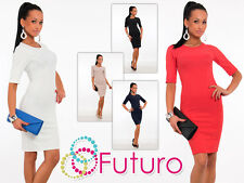 Very Elegant Women's Dress Crew Neck Pencil Party Formal Sizes 8 -14 FK1252