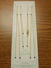 """14K PURE YELLOW GOLD - ROPE CHAIN 30"""" inch - .7mm Wide - SOLID GOLD - NEW"""