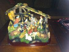 JC Penney First Noel Crèche set Christmas Nativity Scene Jesus Mary Angel X-Mas