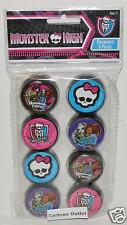 MONSTER HIGH PENCIL SHARPENERS 8 PC SKULL GHOULS FREAKY GIRLS PARTY FAVORS GIFTS