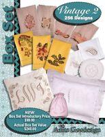 Anita Goodesign Vintage 2 Box Set Embroidery Machine Design CD NEW BX021