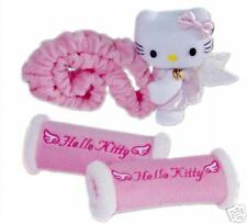 New SANRIO HELLO KITTY Plush Rearview Mirror & Handle Cover Set x Car