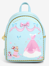 "NWT Loungefly Disney ""Cinderella"" Sewing Jaq Gus Blue Mini Backpack - NEW w/Tags"