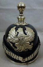 German Prussian Officer Pickelhaube Leather Helmet : Prussian Artillery - Black