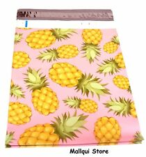 100 PINEAPPLE DESIGNER 6 x 9 MAILER POLY BAGS MAILING PLASTIC BAGS Des: 9