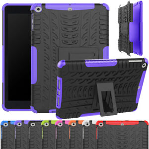 """For iPad Air 1 / 2 9.7"""" 3rd Gen 10.5 """" Rubber Slim Armor Stand Shockproof Cover"""