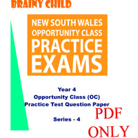 Brainy Child - Year 4  Opportunity Class (OC) Practice Test Questions - SERIES 4