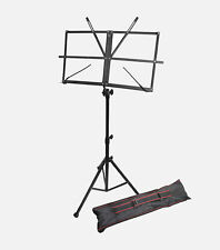 10 Pack Windsor Fold Away Compact Music Stand With Bag - Black (Lot of 10)