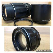 *2Lens : Near Mint* Pentax Super Takumar 55mm F1.8 & SMC Takumar 135mm F/3.5 M42