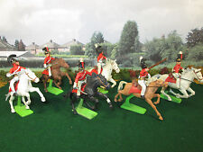 65FP LOT OF 6 BRITAIN'S DEETAIL 1971 BRITISH DRAGOONS MOUNTED CHARGING CAVALRY