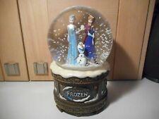 More details for disney store frozen musical snowglobe elsa anna olaf 2014 snow globe
