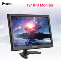 "EYOYO 12 ""TV-Monitor LCD-Bildschirm HDMI/VGA/AV/USB-Eingang für CCTV-Sicherheit"