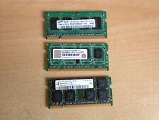 3 BARRETTES DE 1 Go (3 Go AU TOTAL) DDR2 RAM, TRANSCEND / SAMSUMNG / 5300S-555