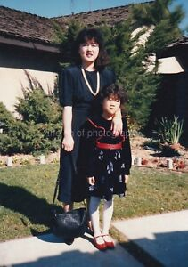 MOTHER + DAUGHTER All Dressed Up FOUND PHOTOGRAPH Color FREE SHIPPING 89 6