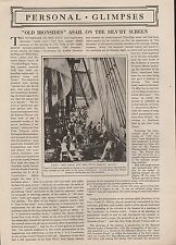 OLD IRONSIDES - Asail on the Silvery Screen +USS Constitution & Barbary Pirates