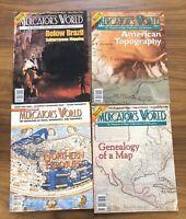 LOT OF 4 - Exploring Mercator's World - Maps - MAGAZINE - TOPOGRAPHY 2001 2002