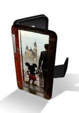 Mickey Mouse Walt Disney's Castle Wallet Leather Phone Case Cover