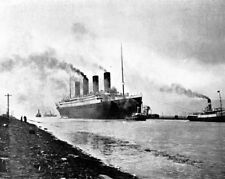 """Picture of the RMS Titanic during sea trials 1912 8""""x 10"""" Photo 81"""