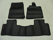 Mitsubishi Shogun SWB 2007-on Fully Tailored Deluxe RUBBER Car Mats in Black