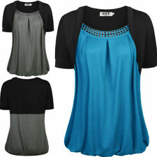 Regular Size Viscose Multi-Coloured Tops & Blouses for Women