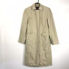 J. Crew Womens Button Down LS Trench Rain Coat Beige Sz 6