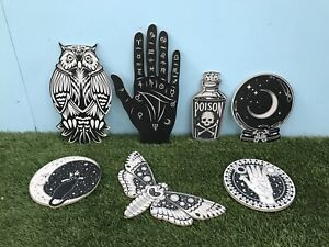 Halloween Crystal Ball Fortune Tellers Hand Owl Party Prop Signs Set of 7 HW