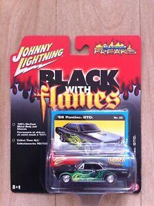 Johnny Lightning Black With Flames '66 1966 Pontiac GTO 1/64