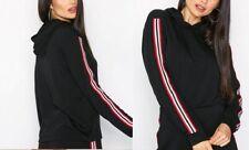 New Ladies Women Long Sleeve Striped Hoodie Top by NLY TREND
