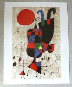 JOAN MIRO People and Dog in the Sun  ABSTRACT ART POSTER PRINT