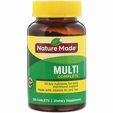 Nature Made Multi Complete with Iron 130 Tablets Gluten-Free, No Artificial