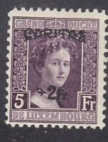 Luxembourg 1924 - Duchess Adelaide 2F on 5F Violet - SG230 Mint Hinged (D21E)
