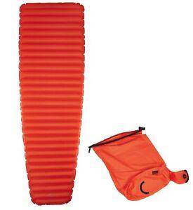 Isomatte inkl. Pumsack Luftmatratze rot  R-Wert 3.5 geeignet bis ca. -10 Grad