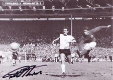 Geoff Hurst Signé Carte COA Angleterre 1966 Hattrick vainqueur coupe du monde 66 West Ham