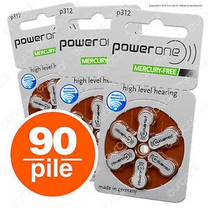 90 Batterie PILE POWERONE 312 PROTESI Acustiche Auricolare PR41 per sordi p312