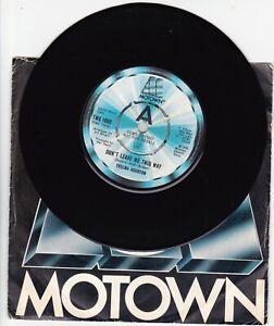"""Thelma Houston – Don't Leave Me This 7"""" VINYL 45 MOTOWN  DJ PROMO/DEMO TMG1080"""