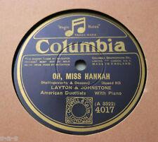 Nice Price: Layton & Johnstone - Oh, Miss Hannah / Always COLUMBIA (605)