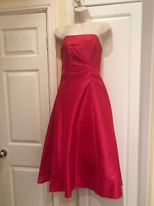 Bridesmaid/prom Dress /ball Gown. Pink, Strappy/strapless With Corset Back 10