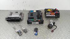 2011 CITROEN DS3 1.6 Diesel ECU + BSI Kit Lock Set 9674245180 0281015847 455
