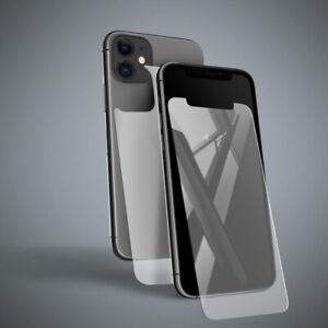 iPhone 11 (6,1') Panzerfolie Display Schutzglas Vorderseite Rückseite 9H Glas