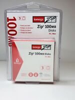 Iomega Zip Disks 100 MB 3 Pack PC/MAC; Brand New Factory Sealed