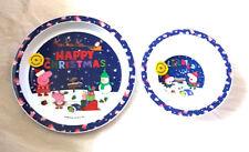 Peppa Pig Christmas  2 Piece Plate & Bowl Mealtime Set 6 Mths +New