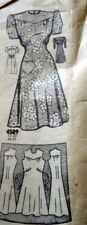 Lovely Vtg 1940s Dress Sewing Pattern 16/34