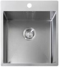 Edelstahl Luxus-Spülbecken Spüle Küchenspüle Shigo High-Line SQAR10 4040