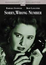 Sorry, Wrong Number: Barbara Stanwyck, Burt Lancaster, Ann Richards. (DVD) Vry/G
