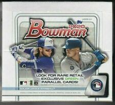 2020 Bowman Baseball Factory Sealed Retail Box - (24 Packs - 12 Cards per Pack)